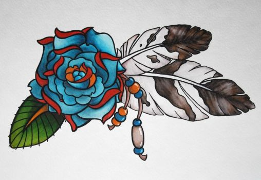 native_american_rose_by_lotuselysse